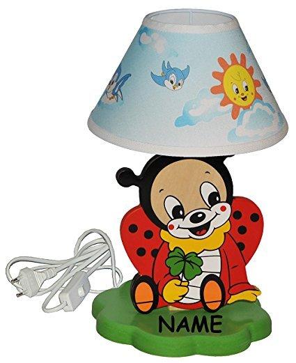 No Name Kinder-Tischlampe Marienkäfer