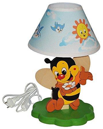 No Name Tischlampe aus Holz Biene
