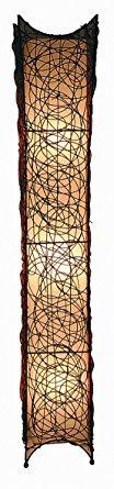 LampenXXL Rattan Stehleuchte 116 cm
