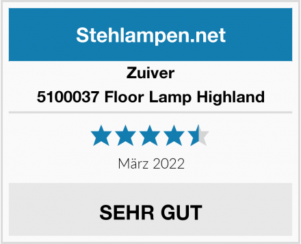 Zuiver 5100037 Floor Lamp Highland Test