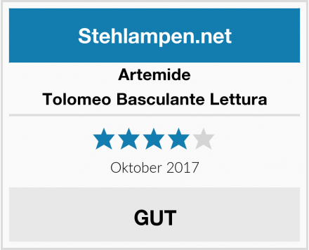 Artemide Tolomeo Basculante Lettura Test