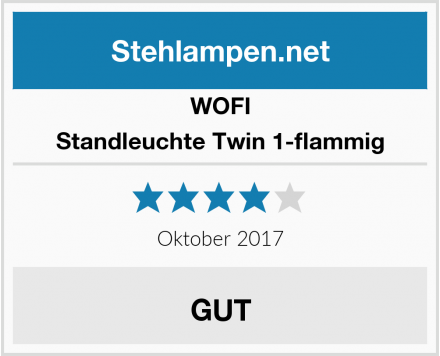 WOFI Standleuchte Twin 1-flammig Test