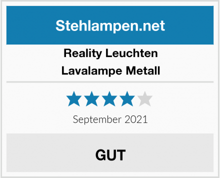 Reality Leuchten Lavalampe Metall Test