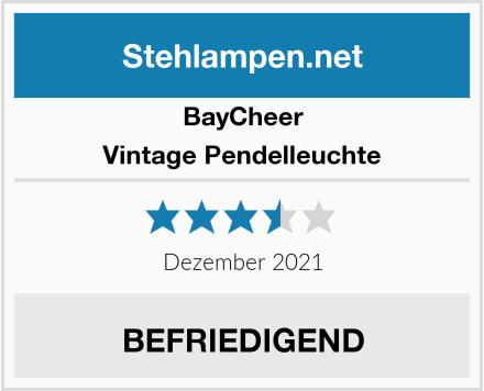 BayCheer Vintage Pendelleuchte Test