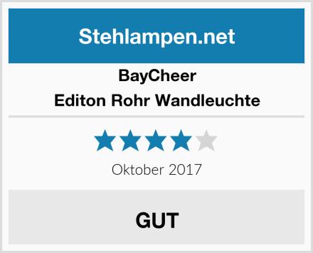BayCheer Editon Rohr Wandleuchte Test