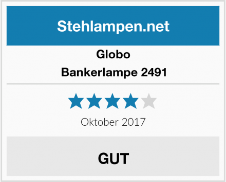 Globo Bankerlampe 2491 Test