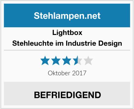 Lightbox Stehleuchte im Industrie Design Test