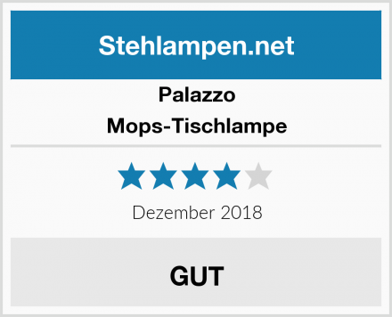 Palazzo Mops-Tischlampe Test