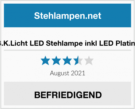 B.K.Licht LED Stehlampe inkl LED Platine Test