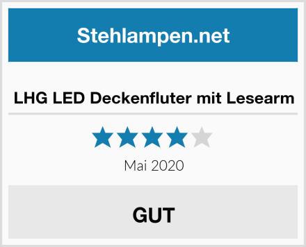 LHG LED Deckenfluter mit Lesearm Test