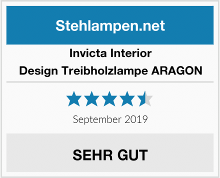 Invicta Interior Design Treibholzlampe ARAGON Test