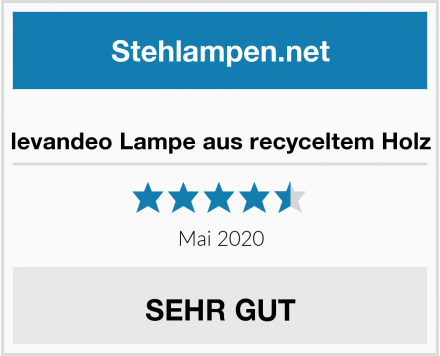 levandeo Lampe aus recyceltem Holz Test