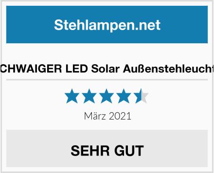 SCHWAIGER LED Solar Außenstehleuchte Test