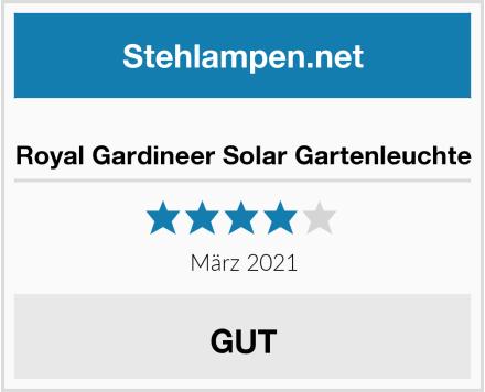 Royal Gardineer Solar Gartenleuchte Test