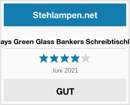Newrays Green Glass Bankers Schreibtischlampe Test