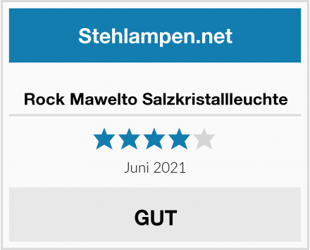 Rock Mawelto Salzkristallleuchte Test