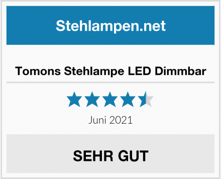 Tomons Stehlampe LED Dimmbar Test