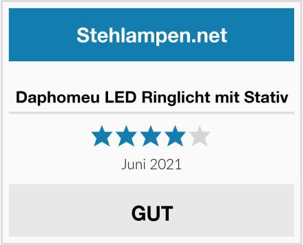 Daphomeu LED Ringlicht mit Stativ Test