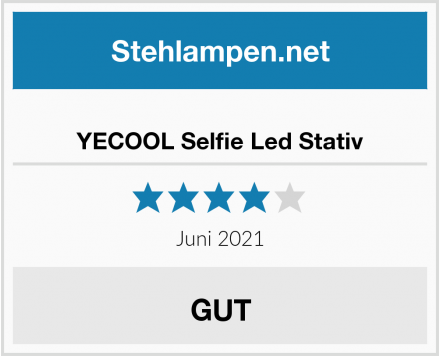YECOOL Selfie Led Stativ Test