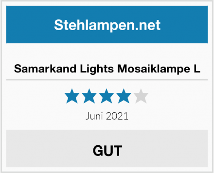 Samarkand Lights Mosaiklampe L Test