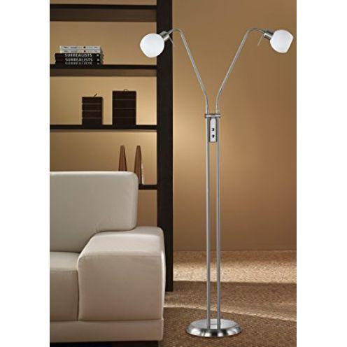 Trio Leuchten LED-Stehleuchte in Nickel 424810207