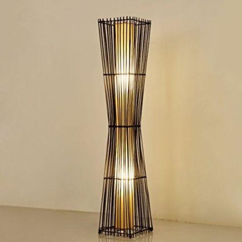 LYM Chinesische Rattan-Stehlampe