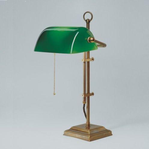 Berliner Messing Banker Lampe W2-99gr B