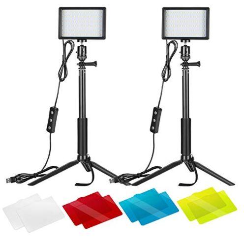Neewer 2er-Pack dimmbares 5600K USB-LED-Videolicht