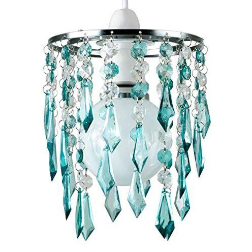 MiniSun Kronleuchter mit hängenden Acryl Juwelen